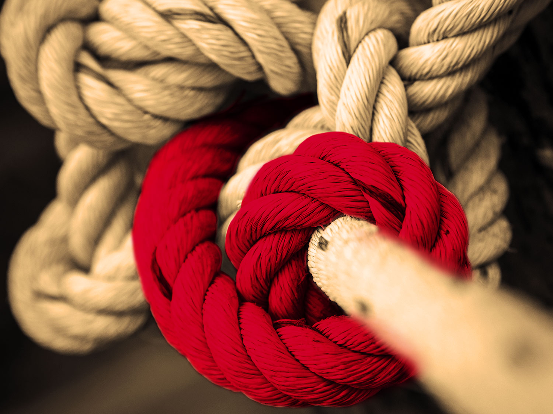 De touwtjes stevig in handen